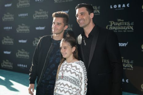 "HOLLYWOOD, CA - MAY 18: Actor Gilles Marini (R) and family at the Premiere of Disney's and Jerry Bruckheimer Films' ""Pirates of the Caribbean: Dead Men Tell No Tales,"" at the Dolby Theatre in Hollywood, CA with Johnny Depp as the one-and-only Captain Jack in a rollicking new tale of the high seas infused with the elements of fantasy, humor and action that have resulted in an international phenomenon for the past 13 years. May 18, 2017 in Hollywood, California. (Photo by Rich Polk/Getty Images for Disney) *** Local Caption *** Gilles Marini"