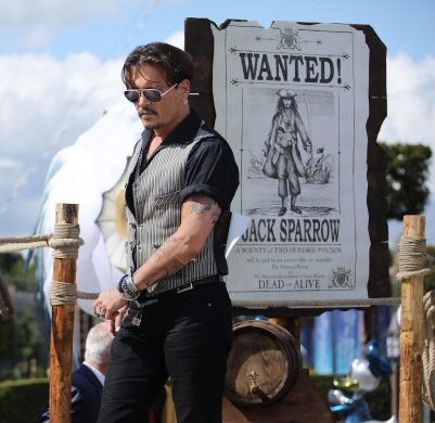 PARIS, FRANCE - MAY 14: Johnny Depp attends the European Premiere to celebrate the release of Disney's 'Pirates of the Caribbean: Salazar's Revenge' at Disneyland Paris on May 14, 2017 in Paris, France. (Photo by Handout/Getty Images) *** Local Caption *** Johnny Depp