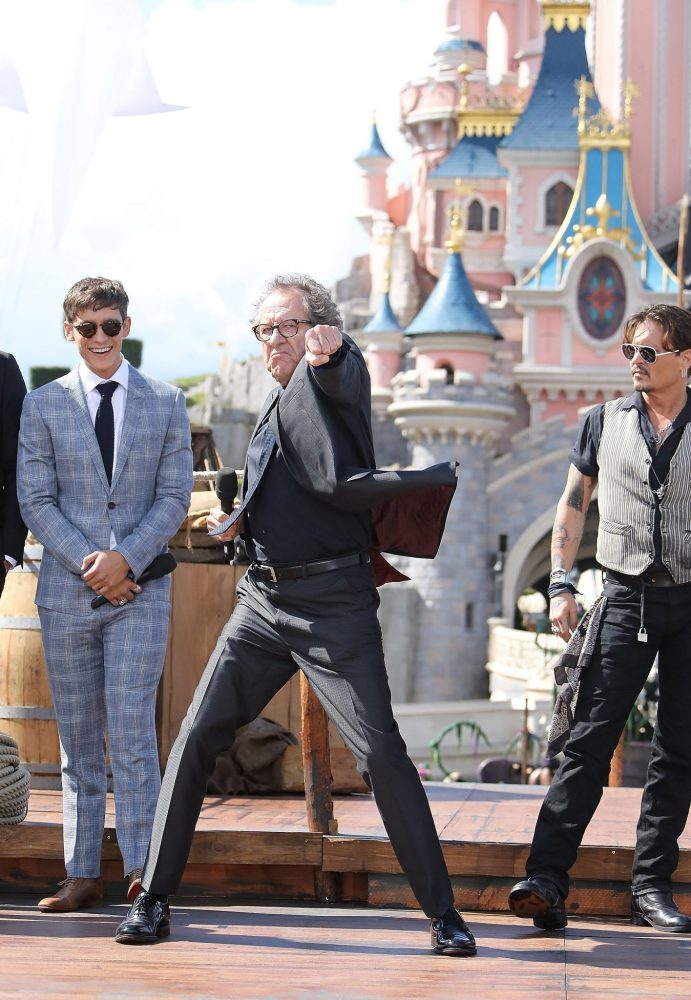 PARIS, FRANCE - MAY 14: Geoffrey Rush attends the European Premiere to celebrate the release of Disney's 'Pirates of the Caribbean: Salazar's Revenge' at Disneyland Paris on May 14, 2017 in Paris, France. (Photo by Handout/Getty Images) *** Local Caption *** Geoffrey Rush