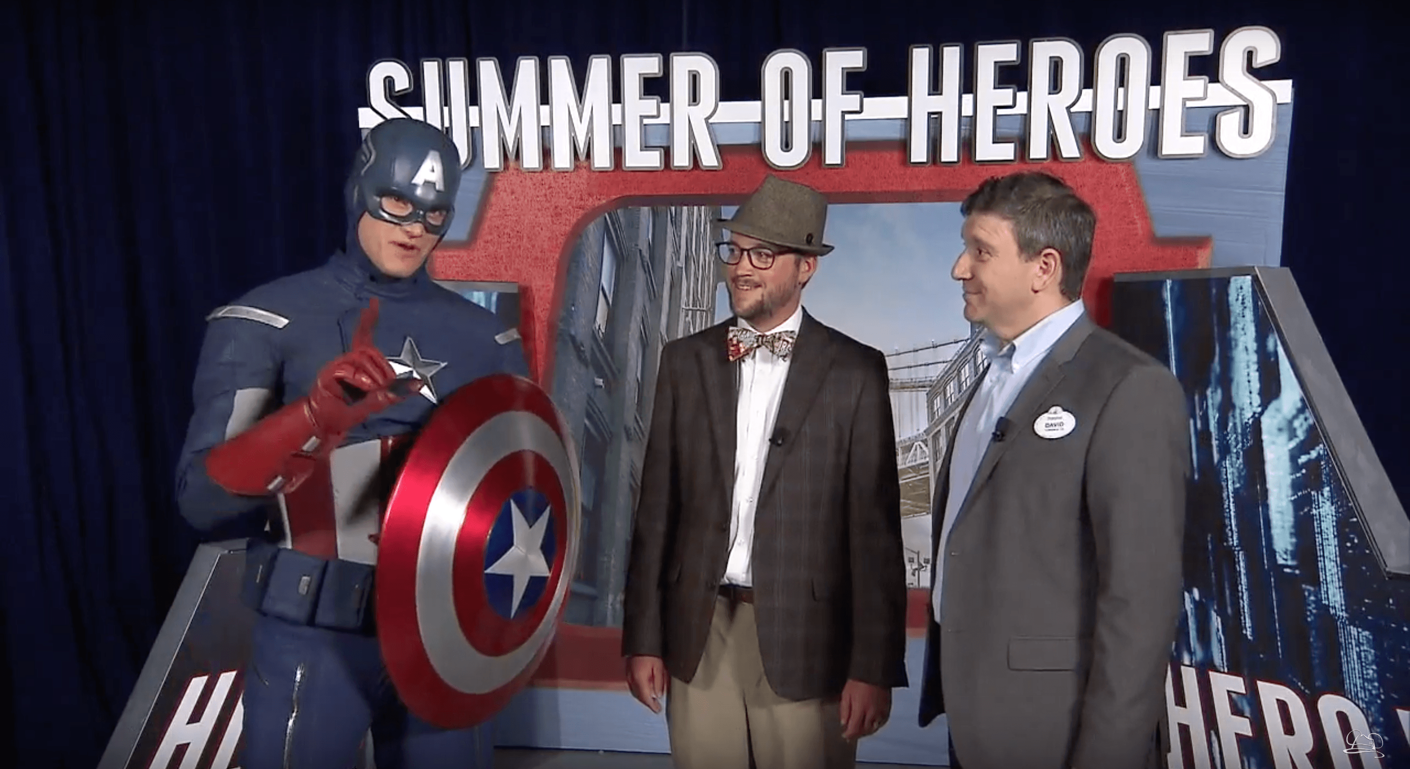 Mr. DAPs interviews David Miller and Captain America about Disney California Adventure's Summer of Heroes!
