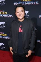 """HOLLYWOOD, CA - OCTOBER 10: Hudson Yang at The World Premiere of Marvel Studios' """"Thor: Ragnarok"""" at the El Capitan Theatre on October 10, 2017 in Hollywood, California. (Photo by Rich Polk/Getty Images for Disney) *** Local Caption *** Hudson Yang"""