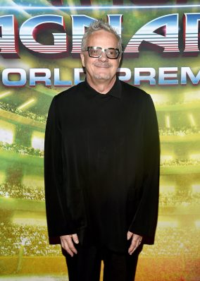"""HOLLYWOOD, CA - OCTOBER 10: Composer Mark Mothersbaugh at The World Premiere of Marvel Studios' """"Thor: Ragnarok"""" at the El Capitan Theatre on October 10, 2017 in Hollywood, California. (Photo by Alberto E. Rodriguez/Getty Images for Disney) *** Local Caption *** Mark Mothersbaugh"""
