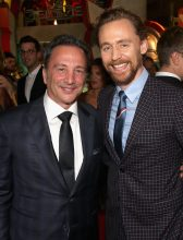 """HOLLYWOOD, CA - OCTOBER 10: Executive producer Louis D'Esposito (L) and Actor Tom Hiddleston at The World Premiere of Marvel Studios' """"Thor: Ragnarok"""" at the El Capitan Theatre on October 10, 2017 in Hollywood, California. (Photo by Jesse Grant/Getty Images for Disney) *** Local Caption *** Louis D'Esposito; Tom Hiddleston"""