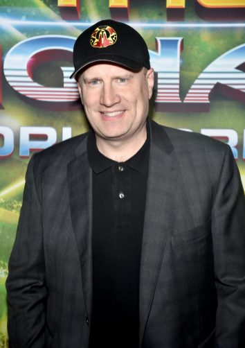 """HOLLYWOOD, CA - OCTOBER 10: Producer Kevin Feige at The World Premiere of Marvel Studios' """"Thor: Ragnarok"""" at the El Capitan Theatre on October 10, 2017 in Hollywood, California. (Photo by Alberto E. Rodriguez/Getty Images for Disney) *** Local Caption *** Kevin Feige"""
