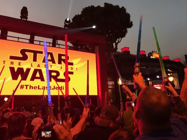 Star Wars: The Last Jedi Final Trailer Screening at Downtown Disney at the Disneyland Resort