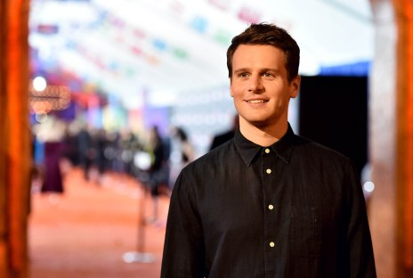 """HOLLYWOOD, CA - NOVEMBER 08: Actor Jonathan Groff of """"Olafís Frozen Adventure"""" at the U.S. Premiere of Disney-Pixarís """"Coco"""" at the El Capitan Theatre on November 8, 2017, in Hollywood, California. """"Olafís Frozen Adventure"""" featurette opens in front of Disney-Pixarís original feature ìCocoî for a limited time. (Photo by Alberto E. Rodriguez/Getty Images for Disney) *** Local Caption *** Jonathan Groff"""