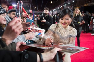 LONDON, UK DECEMBER 12: Kelly Marie Tran attends the European Premiere of Star Wars: The Last Jedi in the presence of HRH Duke of Cambridge and HRH Prince Harry at the Royal Albert Hall in London, UK on Tuesday 12th December 2017. *** Local Caption *** Kelly Marie Tran