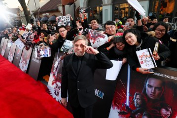 Mark Hamill attends the Shanghai premiere of the highly anticipated Star Wars: The Last Jedi.