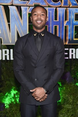 HOLLYWOOD, CA - JANUARY 29: Actor Michael B. Jordan at the Los Angeles World Premiere of Marvel Studios' BLACK PANTHER at Dolby Theatre on January 29, 2018 in Hollywood, California. (Photo by Alberto E. Rodriguez/Getty Images for Disney) *** Local Caption *** Michael B. Jordan