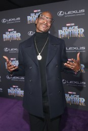 HOLLYWOOD, CA - JANUARY 29: Rapper Snoop Dogg at the Los Angeles World Premiere of Marvel Studios' BLACK PANTHER at Dolby Theatre on January 29, 2018 in Hollywood, California. (Photo by Jesse Grant/Getty Images for Disney) *** Local Caption *** Snoop Dogg