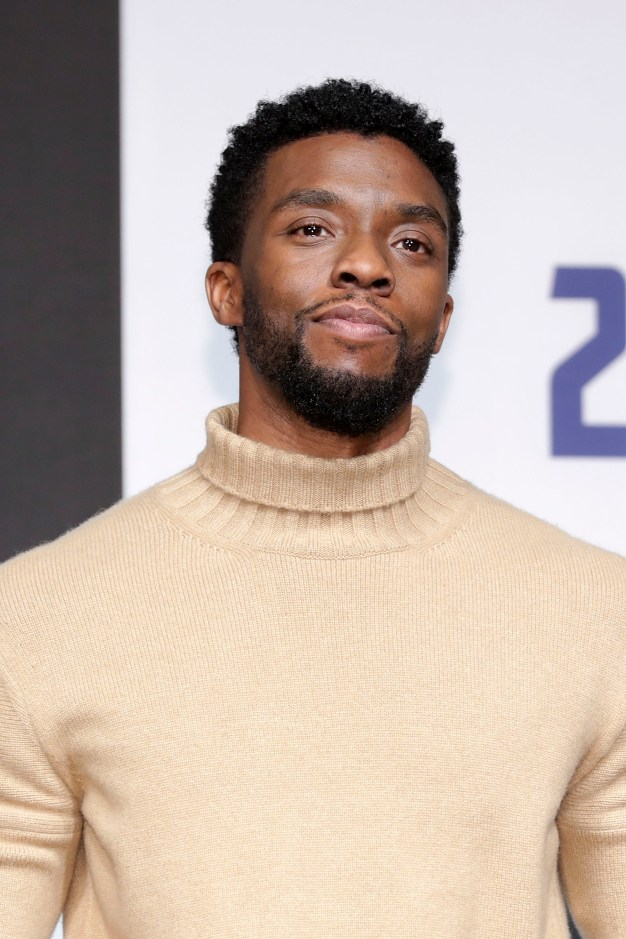 SEOUL, SOUTH KOREA - FEBRUARY 05: Actor Chadwick Boseman attends the press conference for the Seoul premiere of 'Black Panther' on February 5, 2018 in Seoul, South Korea. (Photo by Han Myung-Gu/Getty Images for Disney) *** Local Caption *** Chadwick Boseman
