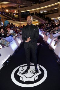 SEOUL, SOUTH KOREA - FEBRUARY 05: Actor Michael B. Jordan arrives at the red carpet of the Seoul premiere of 'Black Panther' on February 5, 2018 in Seoul, South Korea. (Photo by Han Myung-Gu/Getty Images for Disney) *** Local Caption *** Michael B. Jordan