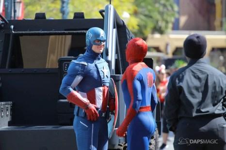 Captain America and Spider-Man - Disney California Adventure