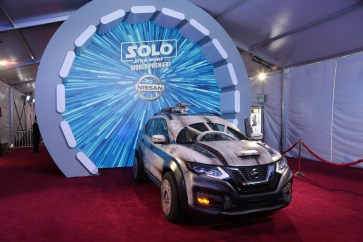 "A Custom Nissan Rogue displayed at the world premiere of ""Solo: A Star Wars Story"" in Hollywood on May 10, 2018. (Photo: Alex J. Berliner/ABImages)"