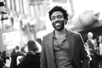 HOLLYWOOD, CA - MAY 10: (EDITORS NOTE: This image has been shot in black and white. Color version not available) Actor Donald Glover attends the world premiere of ìSolo: A Star Wars Storyî in Hollywood on May 10, 2018. (Photo by Charley Gallay/Getty Images for Disney) *** Local Caption *** Donald Glover
