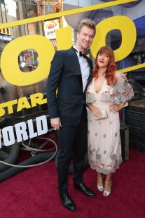 "Joonas Suotamo and Milla Suotamo attend the world premiere of ""Solo: A Star Wars Story"" in Hollywood on May 10, 2018. (Photo: Alex J. Berliner/ABImages)"