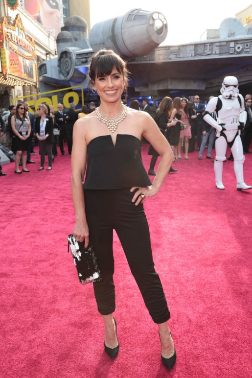 """Constance Zimmer attends the world premiere of """"Solo: A Star Wars Story"""" in Hollywood on May 10, 2018. (Photo: Alex J. Berliner/ABImages)"""