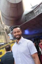 "Isaiah Mustafa attends the world premiere of ""Solo: A Star Wars Story"" in Hollywood on May 10, 2018. (Photo: Alex J. Berliner/ABImages)"