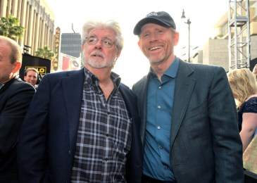 HOLLYWOOD, CA - MAY 10: George Lucas (L) and Director Ron Howard attend the world premiere of ìSolo: A Star Wars Storyî in Hollywood on May 10, 2018. (Photo by Charley Gallay/Getty Images for Disney) *** Local Caption *** George Lucas; Ron Howard