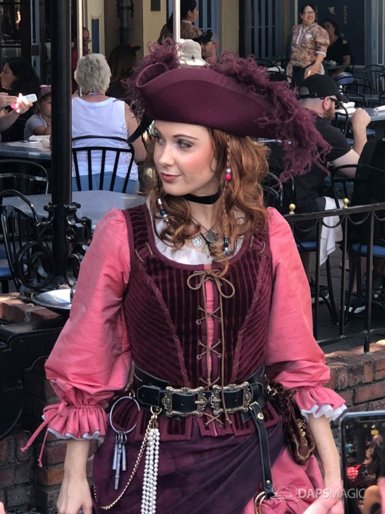 Redd the Pirate in New Orleans Square at Disneyland-5