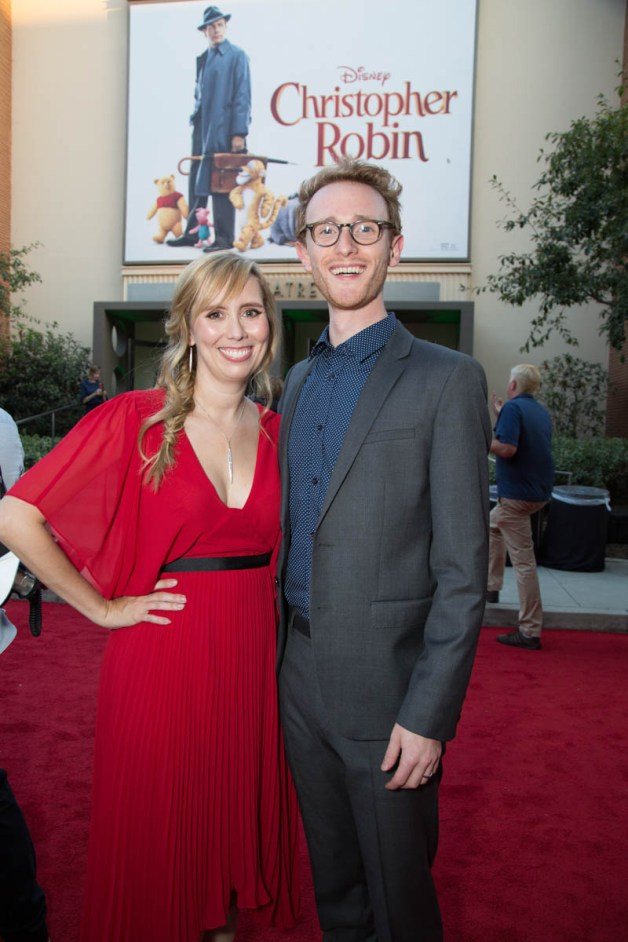 """Allison Schroeder and Aaron Brownstein attend the world premiere of Disney's """"Christopher Robin"""" at the Main Theater on the Walt Disney Studios lot in Burbank, CA on July 30, 2018. (Photo: Alex J. Berliner/ABImages)"""