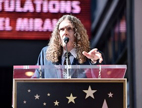 "LOS ANGELES, CALIFORNIA - NOVEMBER 30: ""Weird Al"" Yankovic attends the ceremony honoring Lin-Manuel Miranda with a Star on the Hollywood Walk of Fame on November 30, 2018 in Hollywood, California. (Photo by Alberto E. Rodriguez/Getty Images for Disney)"