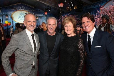John DeLuca, Marc Platt, Julie Platt and Rob Marshall attend The World Premiere of Disney's Mary Poppins Returns at the Dolby Theatre in Hollywood, CA on Wednesday, November 29, 2018 (Photo: Alex J. Berliner/ABImages)