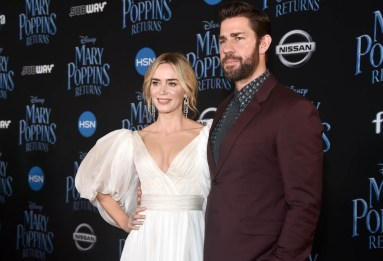 HOLLYWOOD, CA - NOVEMBER 29: Actors John Krasinski (L) and Emily Blunt attend Disney's 'Mary Poppins Returns' World Premiere at the Dolby Theatre on November 29, 2018 in Hollywood, California. (Photo by Alberto E. Rodriguez/Getty Images for Disney) *** Local Caption *** John Krasinski; Emily Blunt