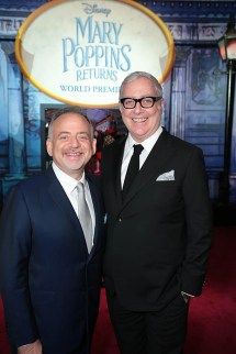 Marc Shaiman and Scott Wittman attend the The World Premiere of Disney's Mary Poppins Returns at the Dolby Theatre in Hollywood, CA on Wednesday, November 29, 2018 (Photo: Alex J. Berliner/ABImages)