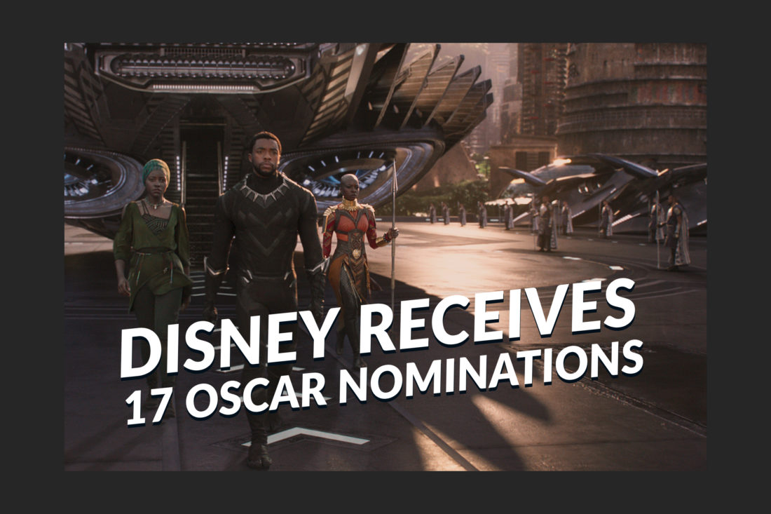 Disney Receives 17 Oscar Nominations Ahead of February 24 Award Ceremony