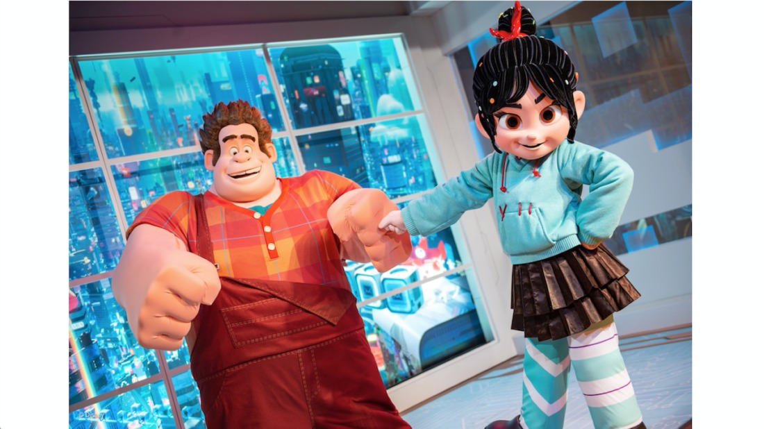 Wreck-It Ralph Stars Ralph and Vanellope at Their New Location in Epcot