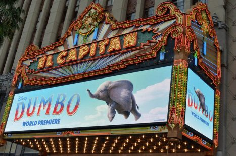 """LOS ANGELES, CA - MARCH 11: A view of the atmosphere during the World Premiere of Disney's """"Dumbo"""" at the El Capitan Theatre on March 11, 2019 in Los Angeles, California. (Photo by Charley Gallay/Getty Images for Disney)"""