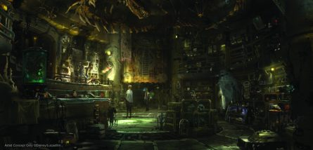 Dok-OndarÕs Den of Antiquities in Star Wars: Galaxy's Edge will feature rare items from across the galaxy for sale, all part of Dok-Ondar's collection. Items will represent different eras of the Star Wars galaxy, including holocrons, ancient Jedi and Sith artifacts, lightsabers and more. Star Wars: GalaxyÕs Edge will open May 31, 2019, at Disneyland Resort in California and Aug. 29, 2019, at Walt Disney World Resort in Florida. (Disney Parks)