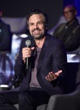 """LOS ANGELES, CA - APRIL 07: Mark Ruffalo speaks onstage during Marvel Studios' """"Avengers: Endgame"""" Global Junket Press Conference at the InterContinental Los Angeles Downtown on April 7, 2019 in Los Angeles, California. (Photo by Alberto E. Rodriguez/Getty Images for Disney) *** Local Caption *** Mark Ruffalo"""