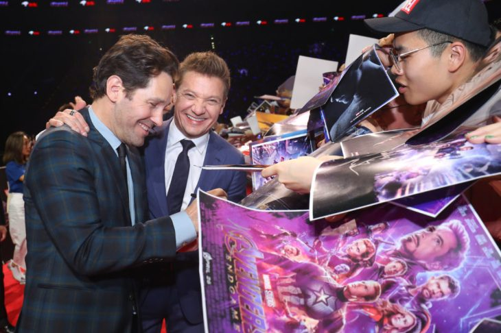 Paul Rudd and Jeremy Renner at the Avengers Endgame China Fan Event Red Carpet