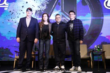 SEOUL, SOUTH KOREA - APRIL 15: Kevin Feige, Trinh Tran, Joe Russo and Anthony Russo attend the filmmakers press conference for Marvel Studios' 'Avengers: Endgame' South Korea premiere on April 15, 2019 in Seoul, South Korea. (Photo by Chung Sung-Jun/Getty Images for Disney)