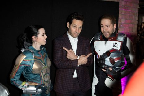 Paul Rudd and Fans attend the UK Fan Event to celebrate the release of Marvel Studios' 'Avengers: Endgame' at Picturehouse Central on April 10, 2019 in London, England.