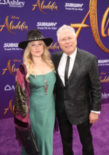 "LOS ANGELES, CA - MAY 21: Composer Alan Menken and his daughter Anna Rose attend the World Premiere of Disney's ""Aladdin"" at the El Capitan Theater in Hollywood CA on May 21, 2019, in the culmination of the film's Magic Carpet World Tour with stops in Paris, London, Berlin, Tokyo, Mexico City and Amman, Jordan. (Photo by Jesse Grant/Getty Images for Disney) *** Local Caption *** Anna Rose; Alan Menken"