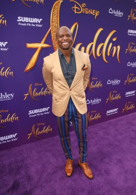 "LOS ANGELES, CA - MAY 21: Terry Crews attends the World Premiere of Disney's ""Aladdin"" at the El Capitan Theater in Hollywood CA on May 21, 2019, in the culmination of the film's Magic Carpet World Tour with stops in Paris, London, Berlin, Tokyo, Mexico City and Amman, Jordan. (Photo by Jesse Grant/Getty Images for Disney) *** Local Caption *** Terry Crews"