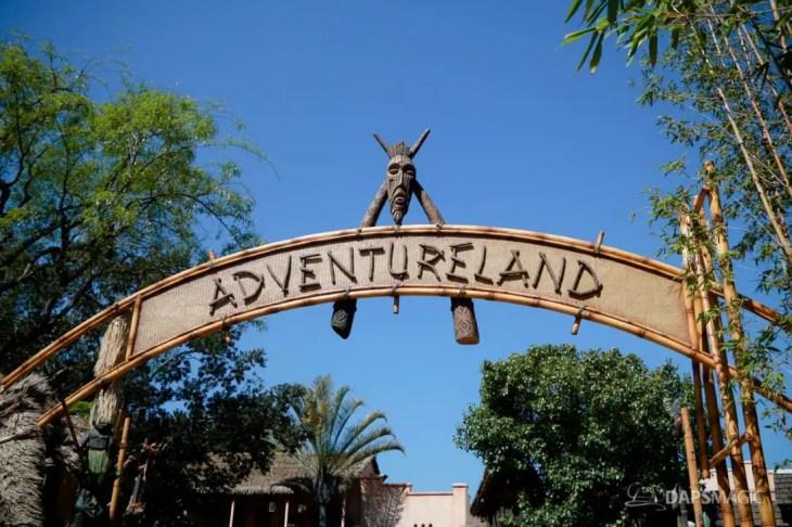 Adventureland Sign at Disneyland