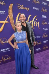 Jada Pinkett Smith and Will Smith attend the World Premiere of DisneyÕs Aladdin at the El Capitan Theater in Hollywood, CA on Tuesday, May 21, 2019, in the culmination of the filmÕs Magic Carpet World Tour with stops in Paris, London, Berlin, Tokyo, Mexico City and Amman, Jordan. (photo: Alex J. Berliner/ABImages)