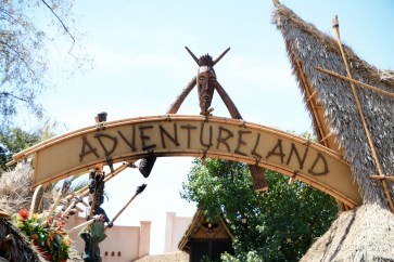 Original Adventureland Sign at Disneyland