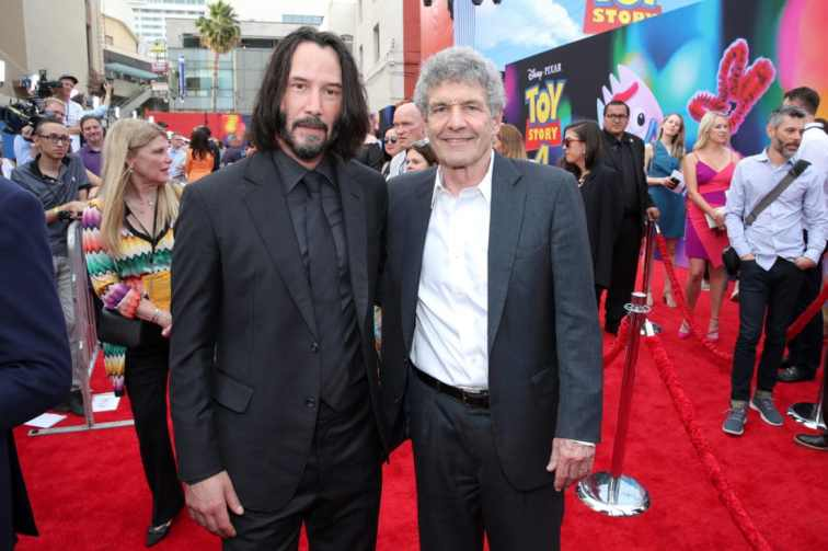 HOLLYWOOD, CA - JUNE 11: (L-R) Keanu Reeves and Walt Disney Studios Chairman Alan F. Horn attend the world premiere of Disney and Pixar's TOY STORY 4 at the El Capitan Theatre in Hollywood, CA on Tuesday, June 11, 2019. (Photo by Rich Polk/Getty Images for Disney) *** Local Caption *** Alan F. Horn; Keanu Reeves