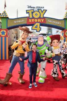 HOLLYWOOD, CA - JUNE 11: Jackson Dollinger attends the world premiere of Disney and Pixar's TOY STORY 4 at the El Capitan Theatre in Hollywood, CA on Tuesday, June 11, 2019. (Photo by Alberto E. Rodriguez/Getty Images for Disney) *** Local Caption *** Jackson Dollinger