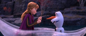"In Walt Disney Animation Studios' ""Frozen 2, Anna (voice of Kristen Bell) and Olaf (voice of Josh Gad) venture far from Arendelle in a dangerous but remarkable journey to help Elsa find answers about the past. From the Academy Award®-winning team—directors Jennifer Lee and Chris Buck, producer Peter Del Vecho and songwriters Kristen Anderson-Lopez and Robert Lopez, Walt Disney Animation Studios' ""Frozen 2"" opens in U.S. theaters on Nov. 22, 2019. ©2019 Disney. All Rights Reserved."