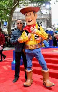 """LONDON, ENGLAND - JUNE 16: Tom Hanks attends the European premiere of Disney and Pixar's """"Toy Story 4"""" at the Odeon Luxe Leicester Square on June 16, 2019 in London, England. (Photo by Gareth Cattermole/Getty Images for Disney and Pixar)"""