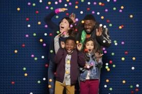 "JUST ROLL WITH IT - Disney Channel's ""Just Roll With It"" stars Suzi Barrett as Rachel, Ramon Reed as Owen, Kaylin Hayman as Blair, and Tobie Windham as Byron. (Disney Channel/Ed Herrera)"