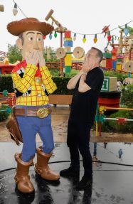 ORLANDO, FLORIDA - JUNE 08: Tom Hanks visits Toy Story Land at Disney's Hollywood Studios on June 08, 2019 in Orlando, Florida. (Photo by John Parra/Getty Images for Disney)