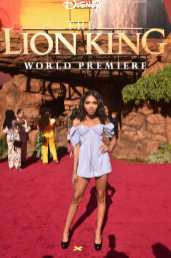 """HOLLYWOOD, CALIFORNIA - JULY 09: Teala Dunn attends the World Premiere of Disney's """"THE LION KING"""" at the Dolby Theatre on July 09, 2019 in Hollywood, California. (Photo by Alberto E. Rodriguez/Getty Images for Disney)"""