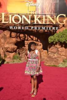 """HOLLYWOOD, CALIFORNIA - JULY 09: Niketa Calame-Harris attends the World Premiere of Disney's """"THE LION KING"""" at the Dolby Theatre on July 09, 2019 in Hollywood, California. (Photo by Alberto E. Rodriguez/Getty Images for Disney)"""